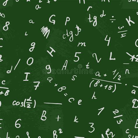 number pattern drawing letter drawing on a blackboard alphabet vector number