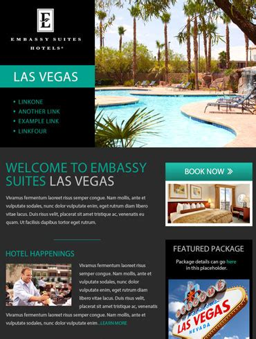 hotel newsletter layout hotel newsletter email design embassy suites las vegas