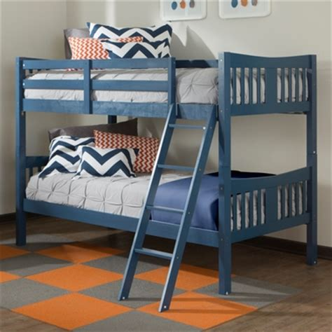 Stork Craft Bunk Beds Storkcraft Caribou Bunk Bed In Navy Free Shipping 275 00