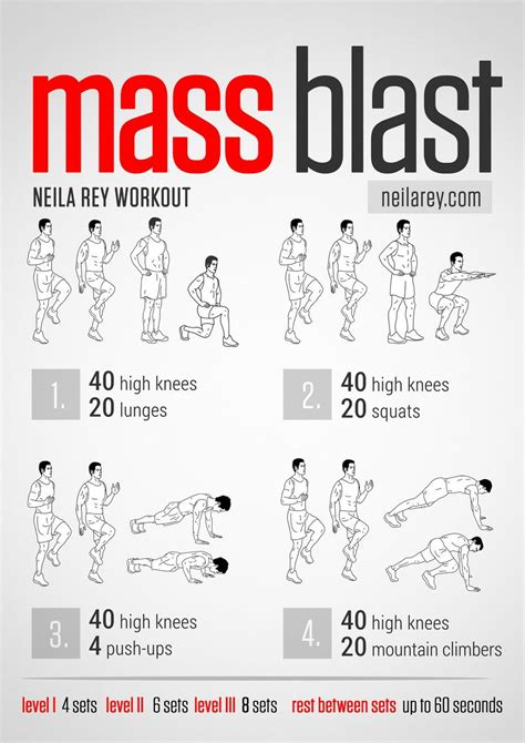 mass blast workout works quads calves ankle joint lower abs triceps biceps chest