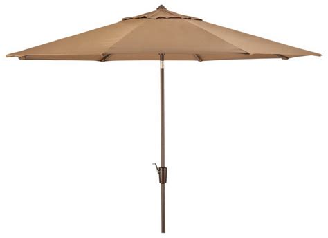 Canvas Patio Umbrellas New Large 10 Patio Market Umbrella Canvas Cocoa Sunbrella Fabric Aluminum Tilt Ebay