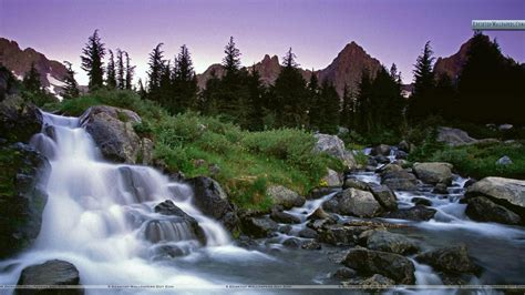 wilderness background ediza creek falls ansel wilderness california