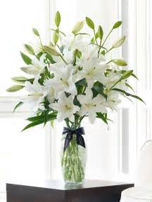 Bud Vase Set Luxury White Oriental Lily Vase
