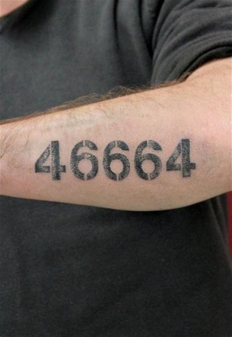 46664 lettering tattoo by skin deep art best tattoo