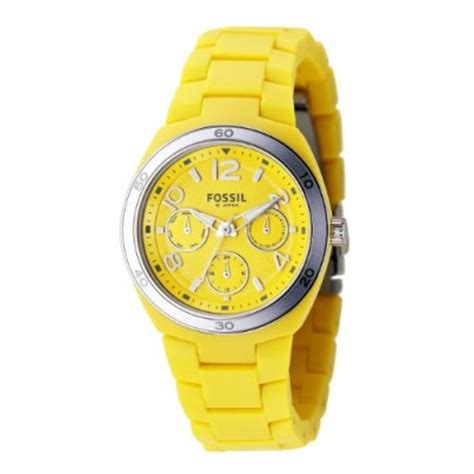 Fossil Es 4023 Rubber fossil es2518 yellow soft touch rubber multi movement watcheo co uk