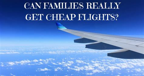 families really save money flying
