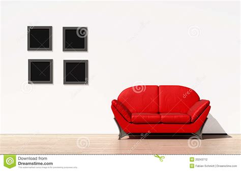 red couch photography red couch on a white wall stock photography image 20243712