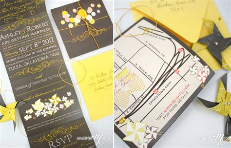 chic wedding invitations etsy chic diy wedding invitations etsy weddings yellow gray