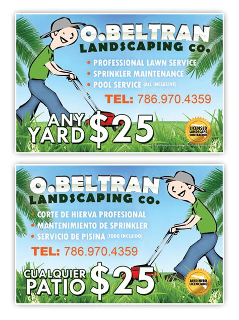 landscape flyer templates landscape idea free landscaping designs exles of