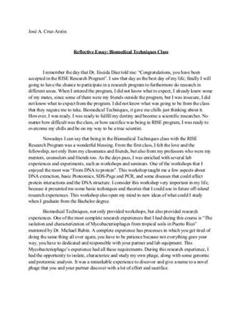 the about nursing reflections of a books reflective essay exles for high school