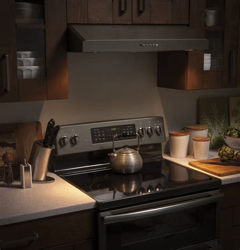 ge under cabinet range hood jvx5300ejes ge 30 quot under cabinet range hood slate