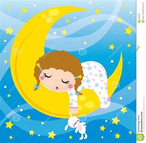 Kaos Bunny Sleep On Moon baby sleeping stock vector illustration of rabbit