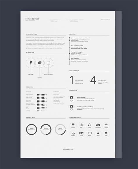 minimal templates free minimal resume template