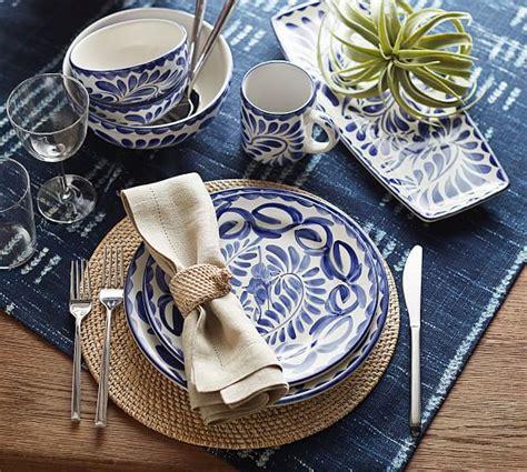 puebla dinner plate set pottery barn