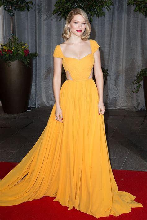 lea seydoux yellow dress l 233 a seydoux wearing a yellow dress best red carpet