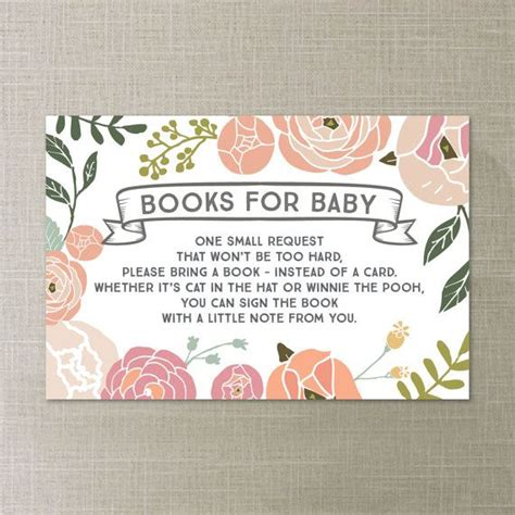 Book Instead Of A Card Baby Shower by Book Request Vintage Baby Shower Book Request