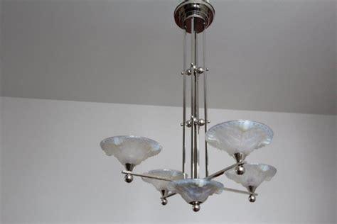 glas schlafzimmer len deckenleuchte mit 5 glasschalen aus opaleszierendem glas
