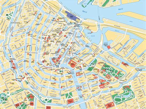 sightseeing map of map of amsterdam tourist attractions sightseeing