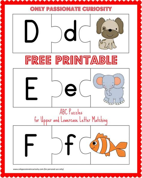 free alphabet upper and lowercase printable free printable abc puzzles upper and lowercase letter