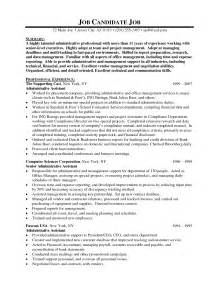 administrative assistant resume sles executive administrative assistant resume resume format