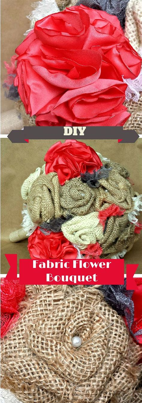 How To Make Wedding Bouquets Using Artificial Flowers by 25 Best Ideas About Fabric Flower Bouquets On