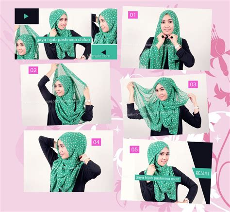 tutorial hijab pashmina satin formal tutorial pashmina chifon 2 hijabmuslim1