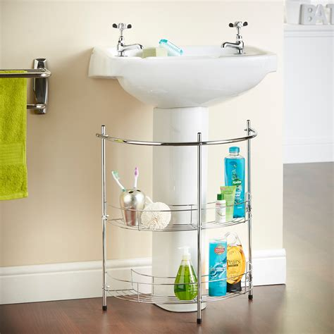 Sink Shelves Bathroom Vonhaus 2 Tier Chrome Bathroom Basin Sink Storage Shelf Rack Organiser