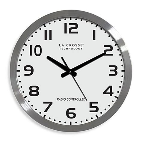 atomic bathroom clock la crosse technology 16 inch atomic wall clock with white
