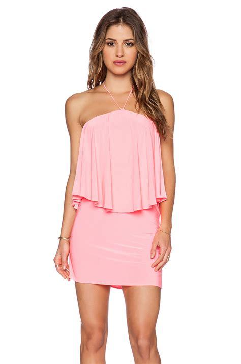 Minidres S Losangels t bags halter mini dress in pink lyst