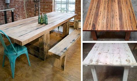 custom made tables from recycled timber mulbury