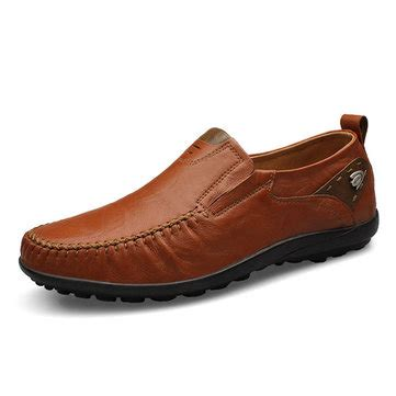 us size 6 5 11 leather slip on casual business shoes