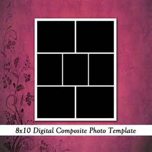 8x10 Photo Collage Template by 8x10 Digital Photo Template Photo Collage Scrapbook