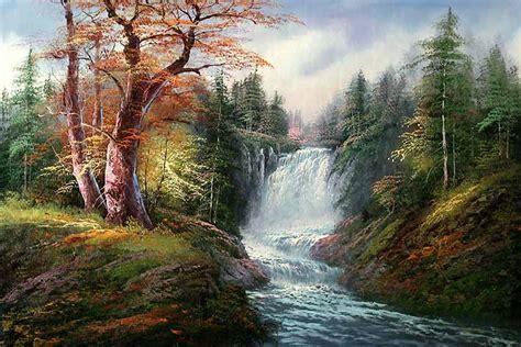 Lukisan Air Terjun 135 X 85 Feng Shui Menarik Kekayaan Ke Rumah Anda 3 landscapes waterfall 01 kitchen room bedroom classical
