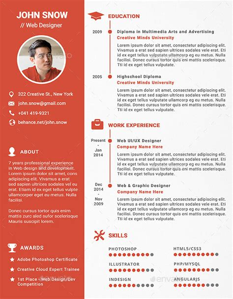 web and graphic designer resume by rofus graphicriver