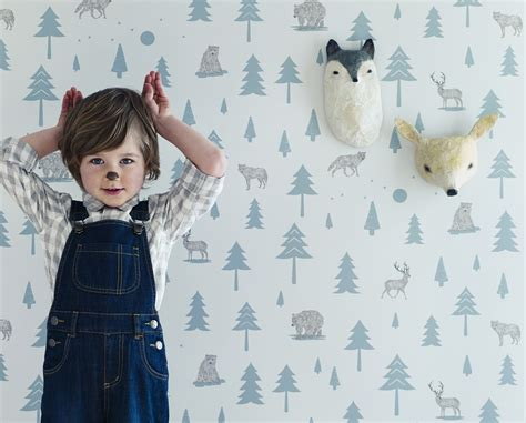 Into the wild woodland themed wallpaper from hibou home room to bloom