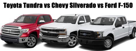 Chevy Vs Toyota Toyota Tundra Vs Chevy Silverado Vs Ford F 150 Limbaugh