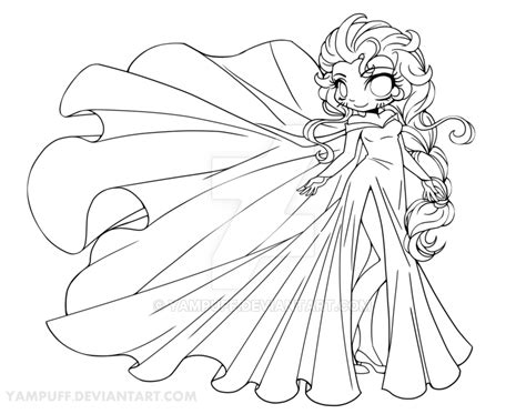 chibi lollipop girl coloring page free printable elsa chibi lineart by yampuff on deviantart