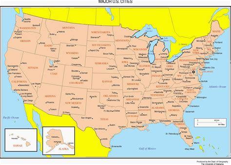 usa map with city names united states map wallpaper wallpapersafari