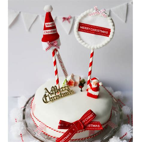 christmas cake decorations and toppers by buttongirl