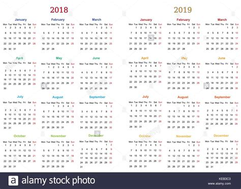 printable calendar 2018 design 2018 calendar simple vector calendar stock photos 2018