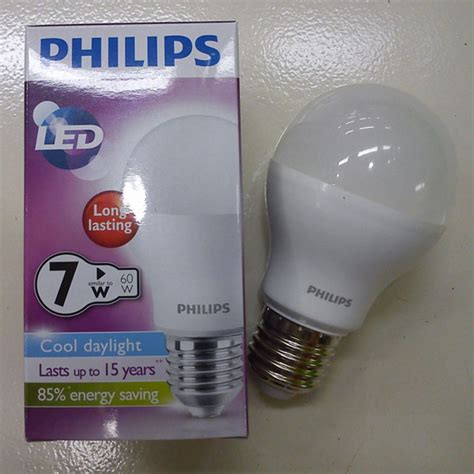 Lu Philips Led Bulb 7 Watt jual lu philips led 7 watt garansi 2 tahun