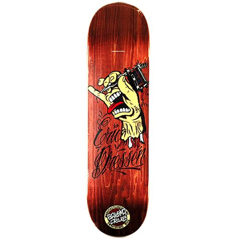 santa cruz dressen tattoo hand brown deck 8 6 forty two