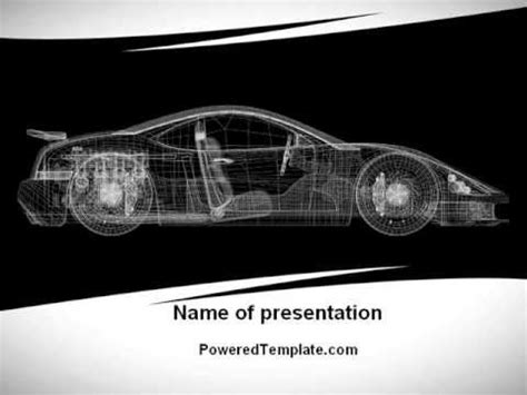 powerpoint design car car design process powerpoint template by poweredtemplate