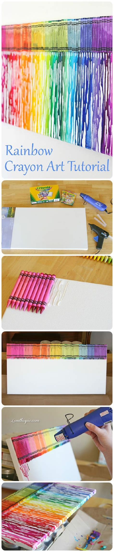 diy crafts with crayons diy rainbow crayon tutorial colorful crayons diy crafts home made easy crafts craft idea