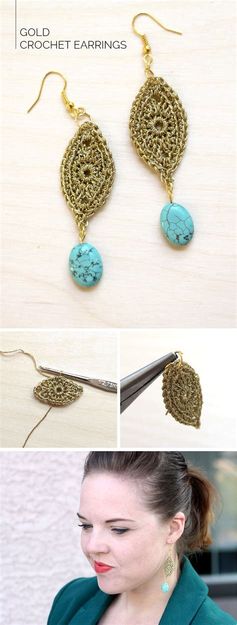 What Do You Think Of These Crocheted Earrings by Diy Gold Crochet Earrings Lou
