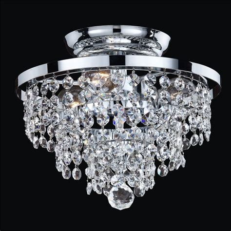 crystal semi flush lighting small crystal ceiling light fixture vista 628a glow