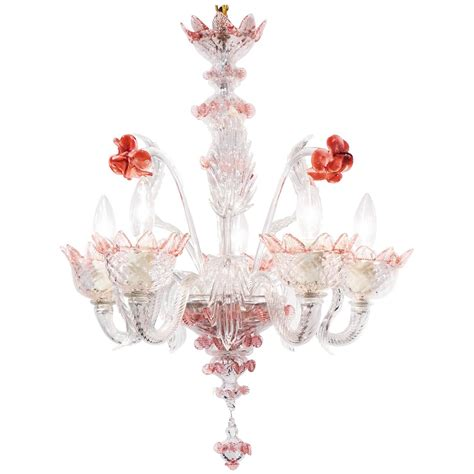 pink glass chandelier murano pink and glass chandelier jean marc fray