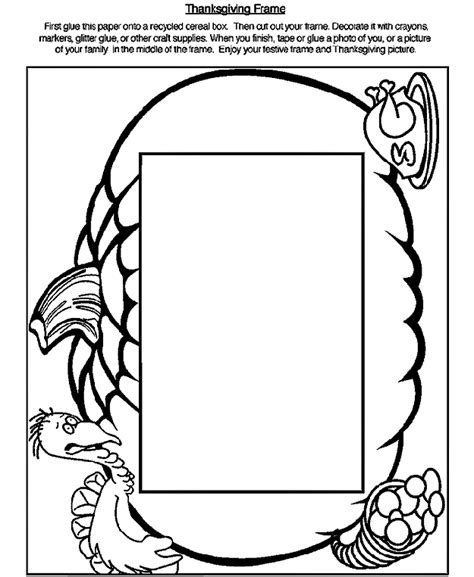 crayola coloring pages for thanksgiving thanksgiving frame coloring page crayola com