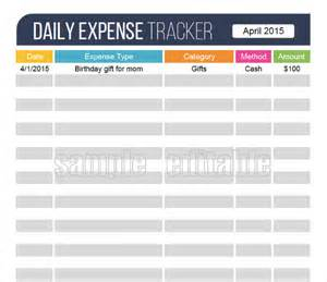 Daily Work Tracker Template by 18 Expense Tracking Templates Free Sle Exle