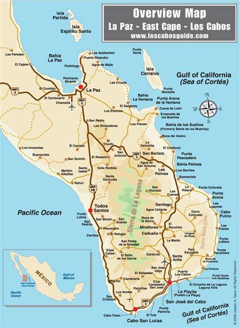san jose cabo map mexico los cabos area overview map san jos 233 cabo baja mexico